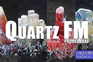 C4D预设-晶莹剔透水晶三维晶体模型预设 TFM – Quartz FM + 使用教程