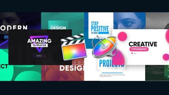 【FCPX插件】10种创意排版图形文字标题动画 Creative Typography Pack
