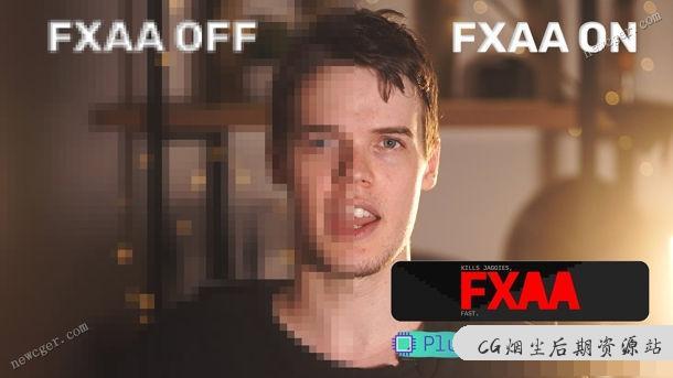【AE插件】快速平滑粗糙边缘和像素/抗锯齿的AE插件 FXAA v1.0 for Win/Mac