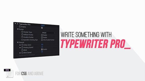 AE打字机动画效果预设 Typewriter Pro-CG烟尘后期资源站