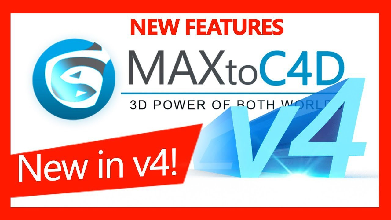MAXtoC4D 4.5 3DSMAX模型导入C4D插件-CG烟尘后期资源站
