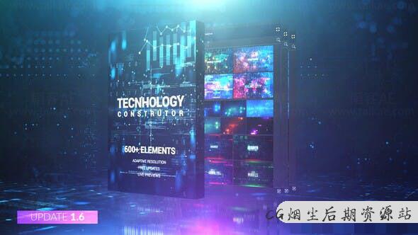 AE脚本扩展-高科技数据信息图表图形元素工具 Technology Constructor-1