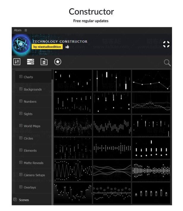 AE脚本扩展-高科技数据信息图表图形元素工具 Technology Constructor AE扩展-第4张