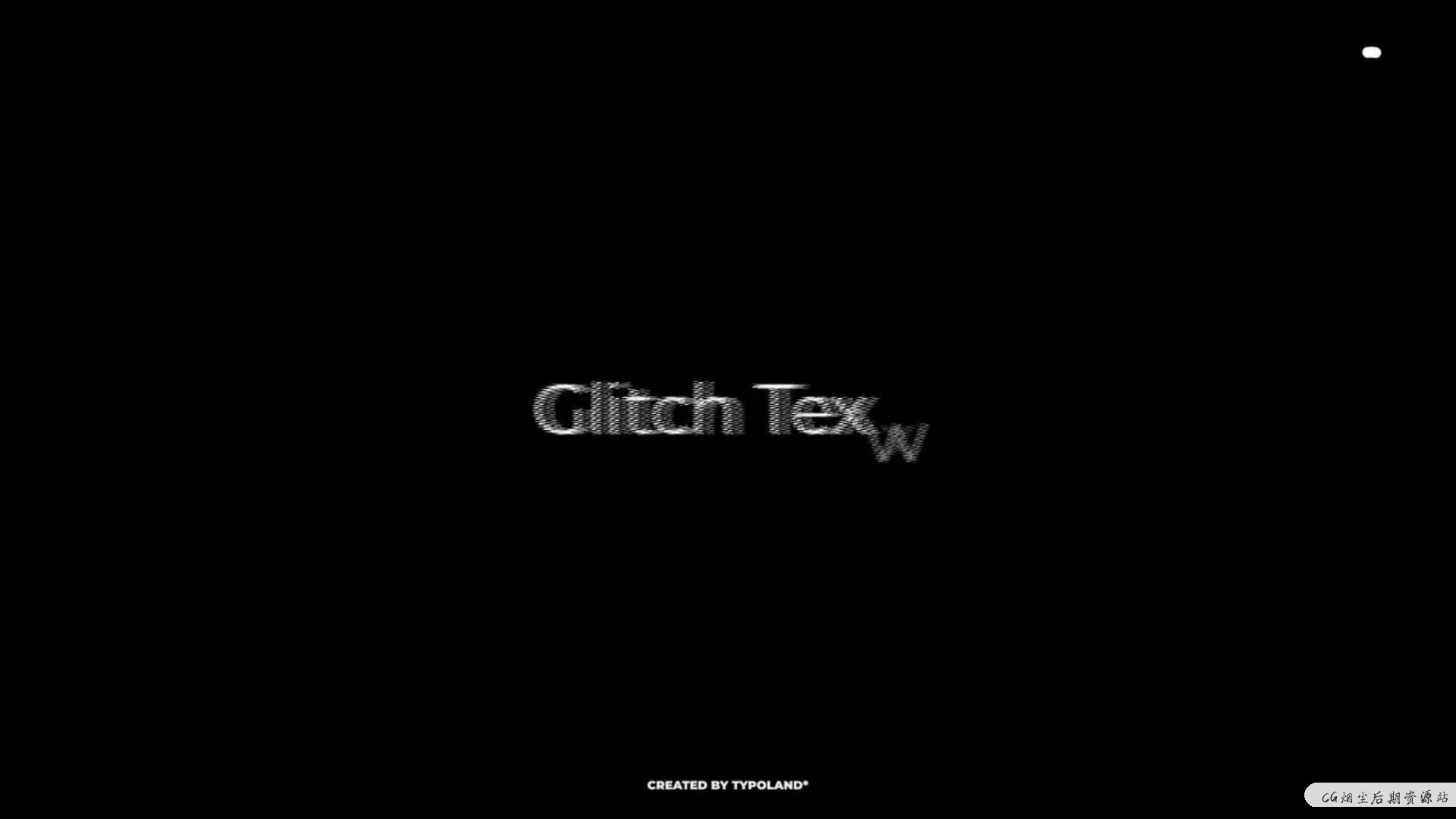 Fcpx文字效果插件 10种信号干扰故障文字特效预设 Glitch Text Animations