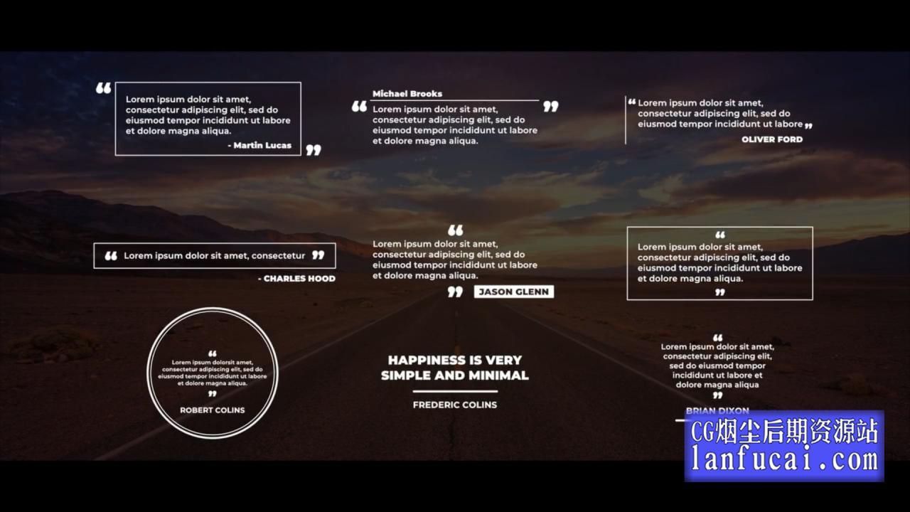 fcpx插件 9组段落引用文字多行字幕动画预设 介绍