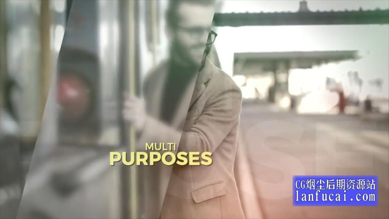 fcpx主题模板 毛玻璃光晕效果图文视频展示片头 介绍插图3