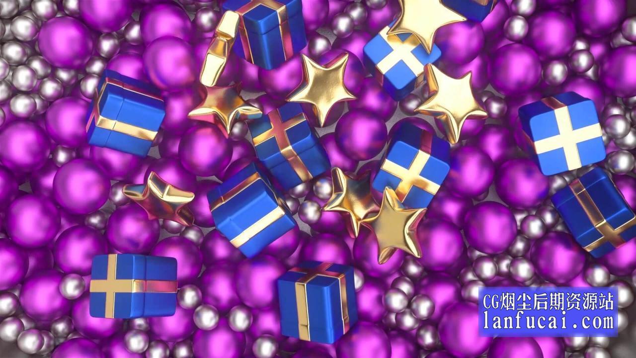 fcpx主题模板 圣诞节庆典徽标LOGO展示片头 介绍插图
