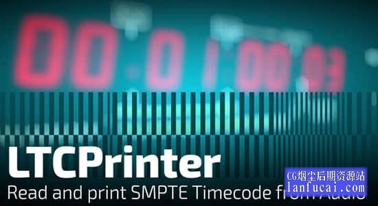 中文汉化AE插件-素材音频时间码读取计时效果 LTCPrinter V1.0.0 Mac