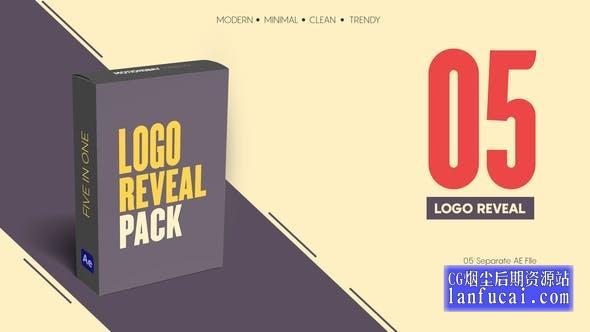 AE模板-现代迷你简洁图形动画LOGO标志片头 Minimal Logo Reveal Pack