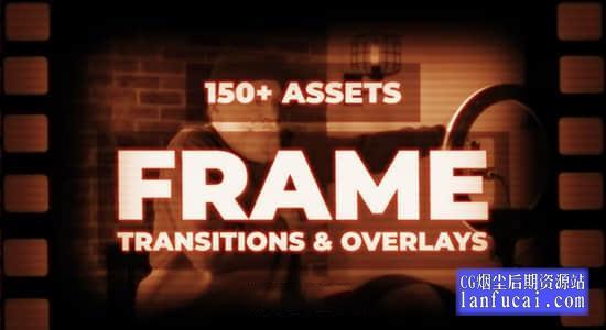 PR预设-150种复古泛黄胶片怀旧视觉动画和转场 Premiere Pro FRAME