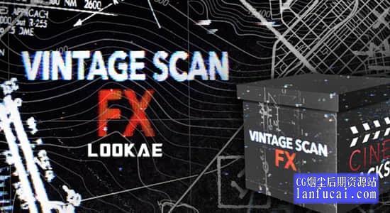 4K视频素材-150个复古扫描失真故障图形动画 CinePacks Vintage Scan FX