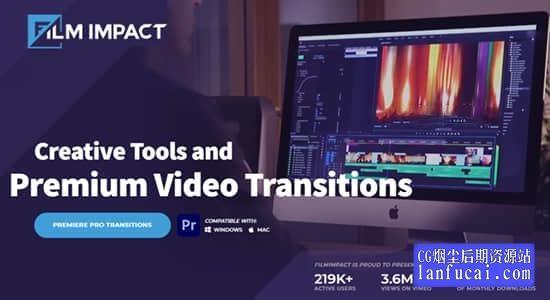 最受欢迎六类55个PR特效转场插件合集包 FilmImpact Premium Video Transitions V4.5.3 Win